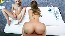 Hot Teen Learns From Bubble Butt Babe's Thumb