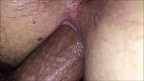 Closeup pussy fucked balls deep with inside gap...