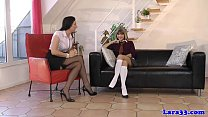 Mature lesbian giving spanking video