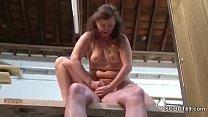 German Mature in Stockings Seduce to Fuck by Stranger Vorschaubild