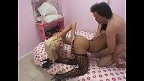 Slutty blonde Jada Stevens sucks a huge cock before she is given a hard fuck