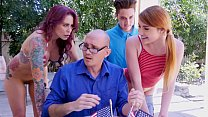 BANGBROS - Awesome 4th Of July Threesome With Monique Alexander, Adria Rae & Juan El Caballo Loco
