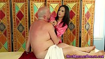 Little masseuse blowjob