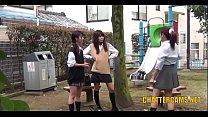 Asian College Teens Pissing Outdoors