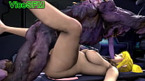 Hentai fucked by a monster