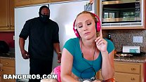 BANGBROS - Strong Arming AJ Applegate's Tight Pussy Behind BF's Back thumbnail