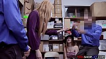 Redhead MILF mom involves her teen daughter in a crime thumbnail