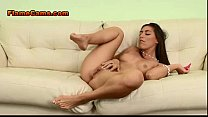 Natural Young Brunette Cums Hard