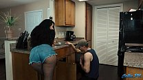 Lonely Latina housewife fucks the