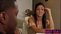 Seductive teen Nikki Knightly spreads legs for BBC banging