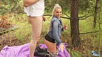 Image: Horny Blonde rich princess first time outdoor Fuck