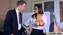 Tight Student A nd Busty Teacher Threeway With r Threeway With Horny Guy