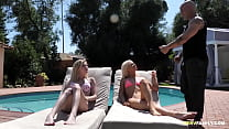 Come here and let's fuck your mom's boyfriend! - Chloe Foster,Elsa Jean