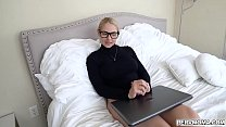 Sarah Vandella pops out her milf pussy and lets her stepson slide right inside her muff
