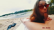 PUBLIC ANAL FUCK ON THE BEACH WITH CUMSHOT ON F...