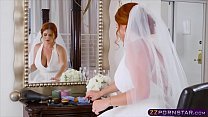 Chubby bride cheating and fucks best man on her wedding day preview image