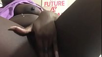 ebony teen coco fingering and twerking thumbnail