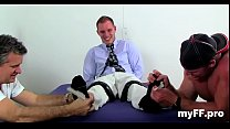 Foot fetish homosexual tryout