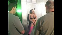 Well-padded blonde bombshell Jaime Brooks helps couple dudes to pour oil on troubled waters