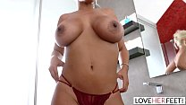 LoveHerFeet - Big Tits Bridgette B Is Single And Ready For a Foot Fuck Session Preview