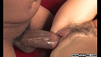 Mom Lake Russell takes a big black cock in front of her son