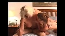 18050 Granny wife and a young chick in a foursome preview