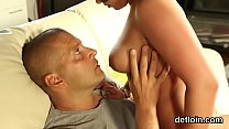 Cute cutie spreads spread snatch and gets deflorated