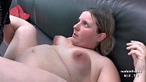 Casting couch of a fat bbw french blonde sodomized and jizzed on tits by her bf preview image