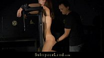 Skinny submissive slave hard used in the basement صورة