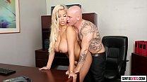 Extreme sexy big tits milf Bridgette B jizzed by her boss Derrick Pierce - Graphic Content Scene 3