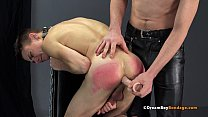BIG DICK DADDY FUCKS YOUNG TEENAGE SON BAREBACK AFTER SPANKING HIS TWINK ASS - BDSM GAY BONDAGE