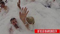 Boyfriend VS Girlfriend: Titus Steel vs Jasmine Rouge Have Public Sex During A Punta Cana Foam Swimming Pool Party