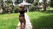Wife Naked in Public Gazebo image