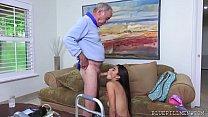 Latina Teen Fucks Old Man Frankie Image