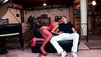 Tommy fucking in red fishnet nylon and a garter tumblr xxx video