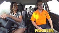 Fake Driving School Pretty black girl seduced by driving instructor thumbnail