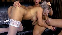 Teen Deepthroat Big Cock and Cum on Bubble Ass thumbnail