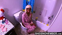 Please No! I'm Peeing Step Dad! Don't Have Sex With Me Right Now :-( Urinating StepDaughter Msnovember BlackPussy Brutally Fucked & Extreme Creampie xxx On Sheisnovember