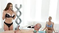 Seductive Blonde Trainee Lets Client Cum In Her...