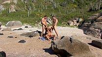 Anal orgy at the beach Vorschaubild