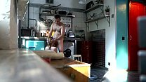 Czech teen Perfect blowjob in the kitchen, Hidden spy cam
