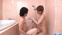 Nasty shower porn experience with Tiara Ayase thumbnail
