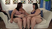 Horny lesbian BBWs Alexxxis Allure and Lady Lynn having fun.