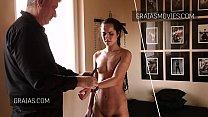 Nice girl brutally whipped