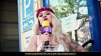 BUMS BESUCH - Hot German porn star Lilli Vanilli blows & fucks amateur guy in hotel room Vorschaubild