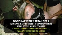 Dogging - Naughty Wife Fucking by strangers in the park in front of cuckold - English subtitles - Sexxx-Porno thumbnail