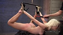 Rough fuck slave training for blonde in ropes pornhub video