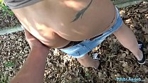 Public Agent Sweet ass babe with great tits fucked against fence preview image