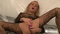 Amateur Sticks A Toy Deep Inside Her Pussy preview image
