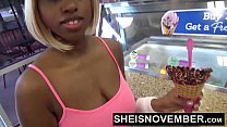 HD Tennis Court Stranger Gets Amazing BJ Throat Fuck From Skinny Innocent Saggy Boobs Ebony Msnovember , Eating An Ice Cream Cone , and Outside Flashing Hairless Pussy And Great Butt HD Sheisnovember صورة